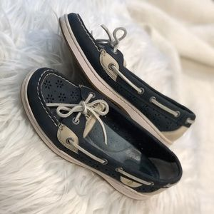 Sperry Topsider Size 7M Angelfish Perf Navy Blue